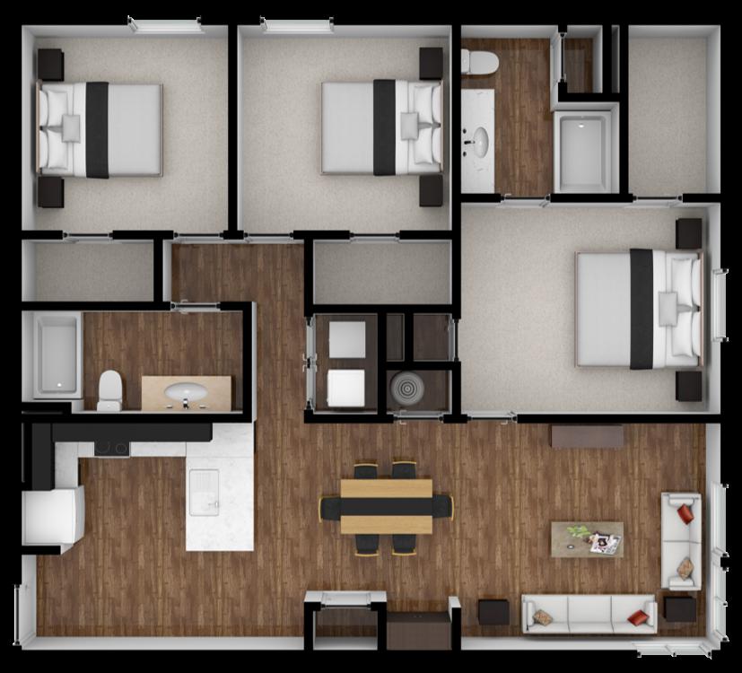 2 Bedroom Apartments Denver: 3 Bedroom Apartments Denver