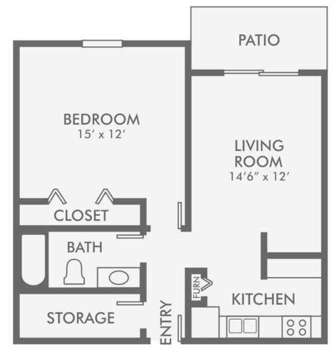 One bedroom apartments colorado springs sky at bear creek floor plans for One bedroom apartments colorado springs