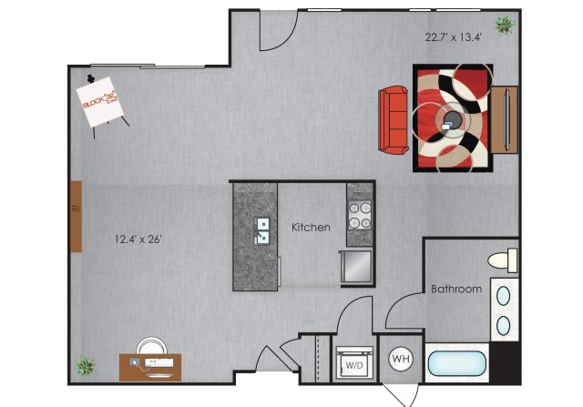 Berkeley Artist Studio Loft floorplan