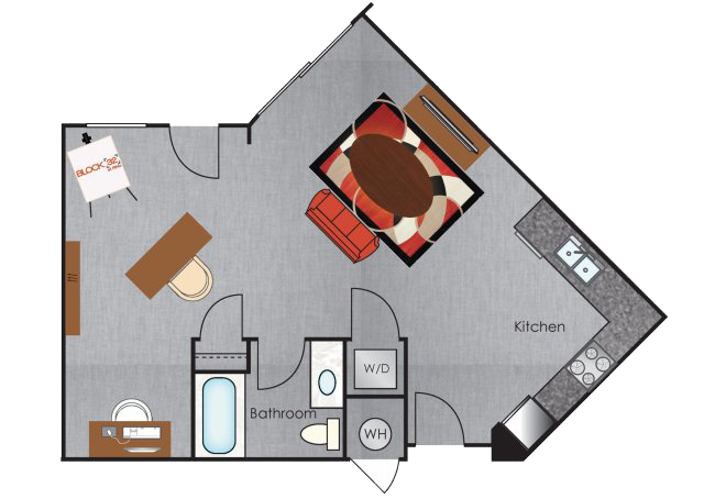 San Francisco Artist Loft floorplan