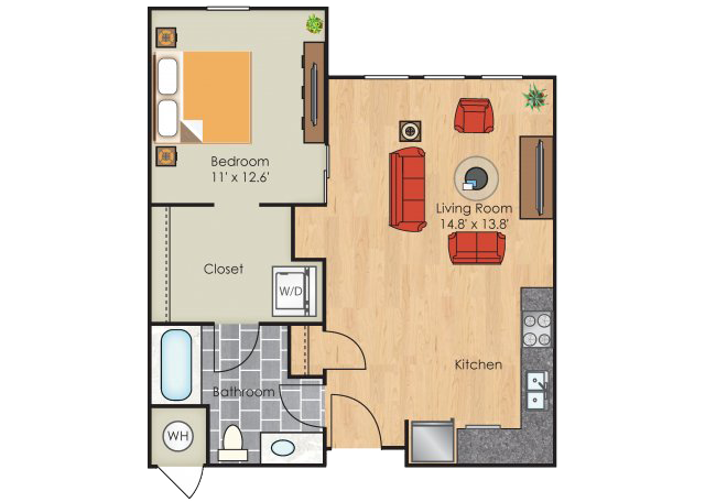 One bedroom apartments denver block 32 at rino floor plans - One bedroom apartments denver under 700 ...