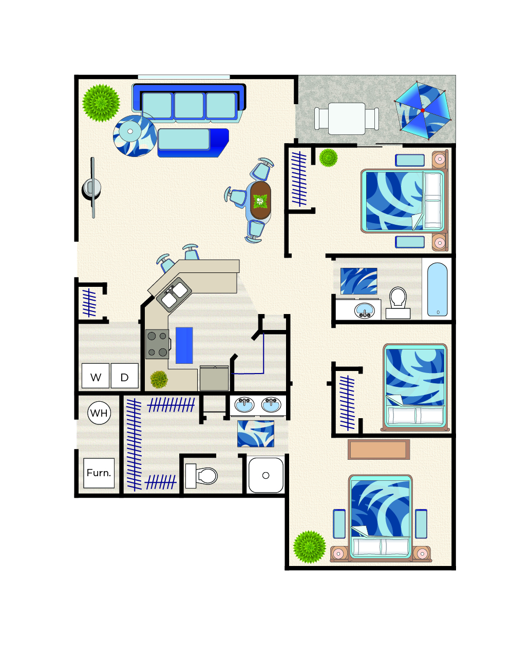 Cassia floorplan