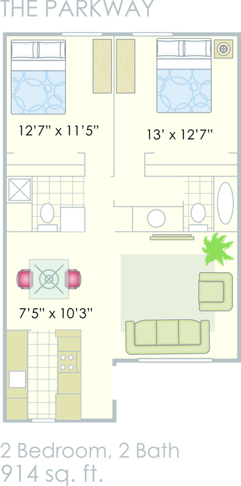 The Parkway floorplan