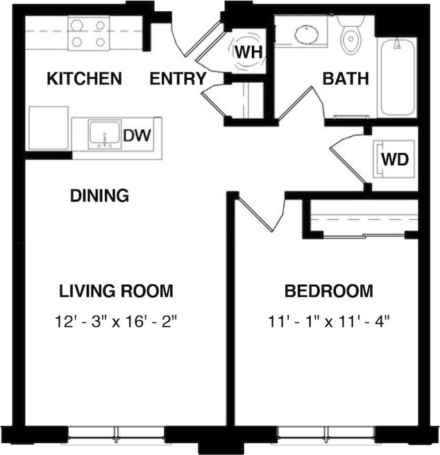 Unit 1 floorplan