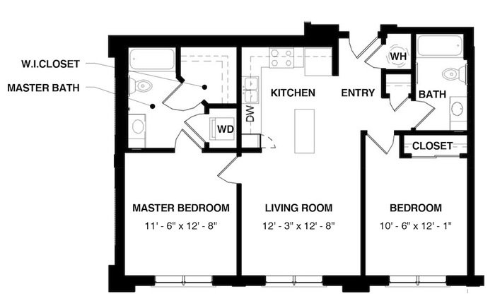 Unit 2A floorplan