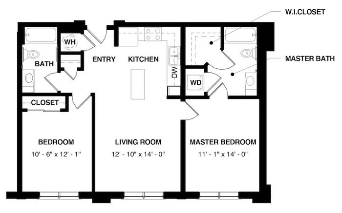 Unit 2B floorplan