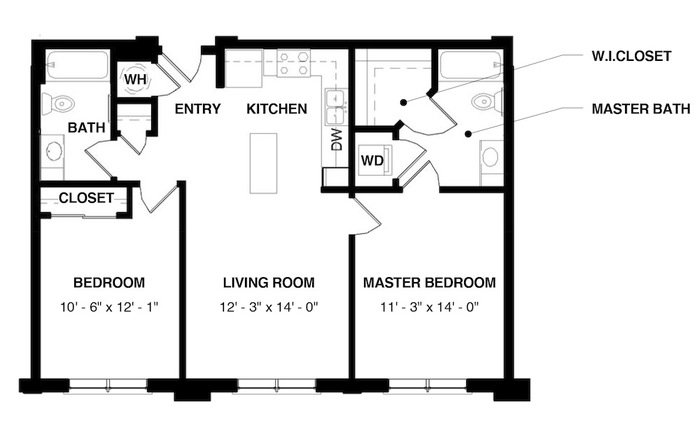 Unit 2C floorplan