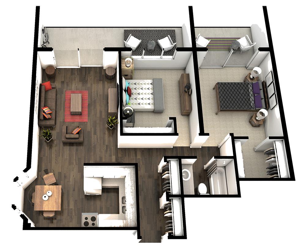 2 Bedroom Apartments Denver | Trivium Apartments