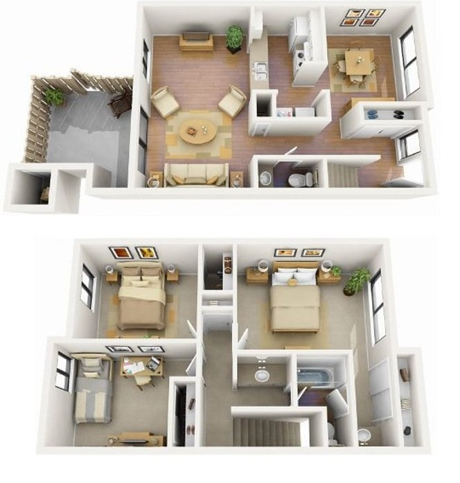 The Ponderosa floorplan