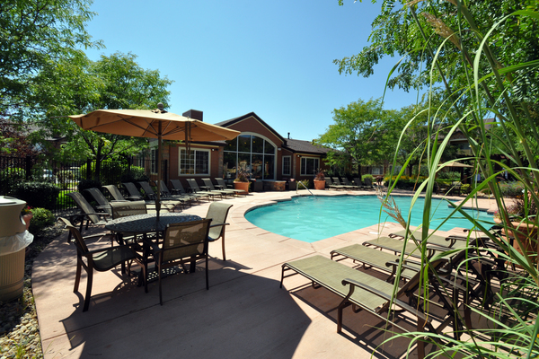 Sparkling Pool of Seasons Horsetooth Crossing Apartments
