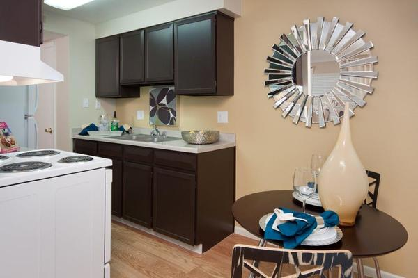 Kitchen of Heights on Huron Apartments