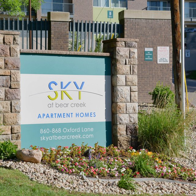 Sky At Bear Creek Apartment Homes - Property sign