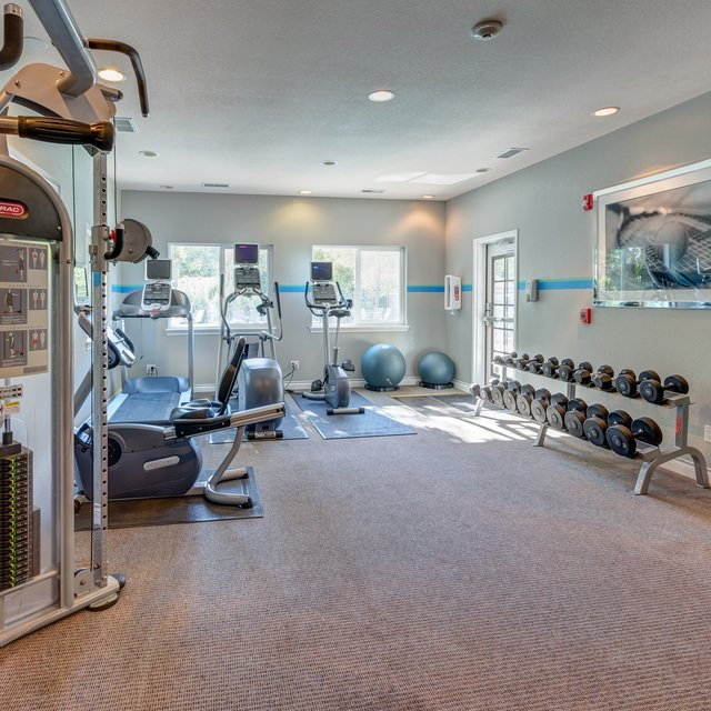 The Falls at Lakewood - fitness center interior