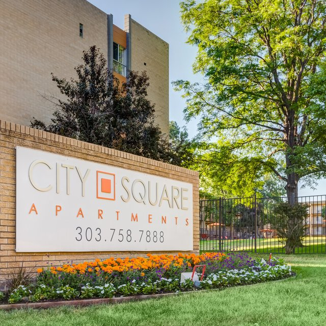 City Square Apartments sign