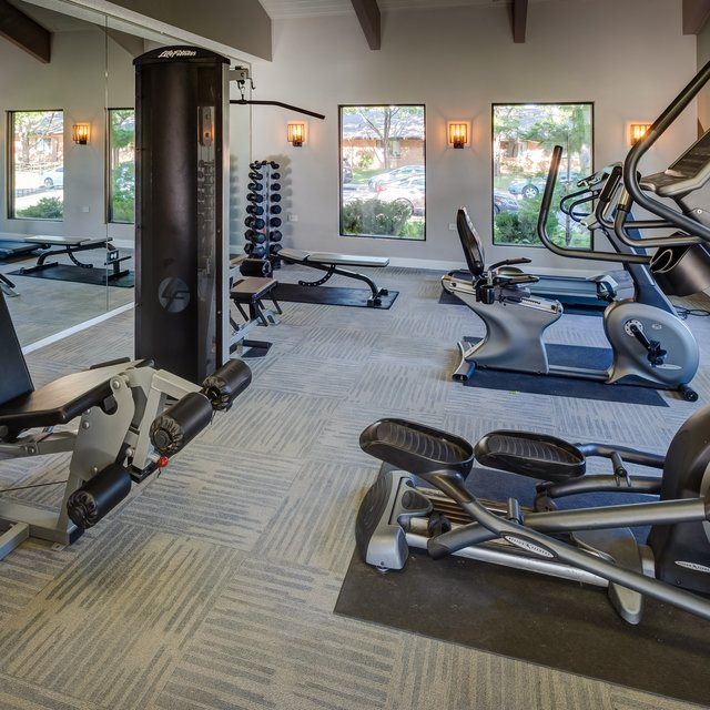 City Square Apartments fitness room