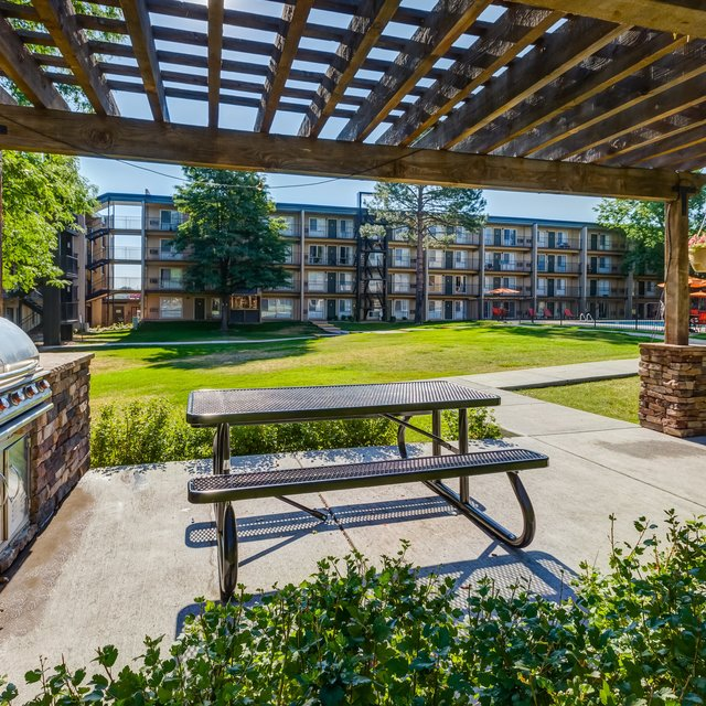 City Square Apartments bbq area