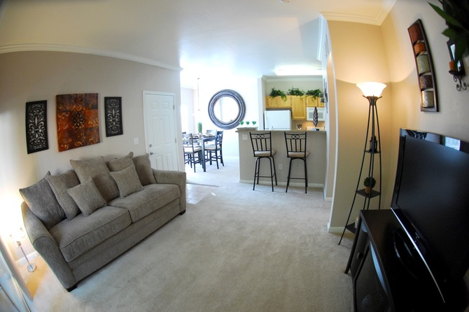Living Room of Seasons Horsetooth Crossing Apartments
