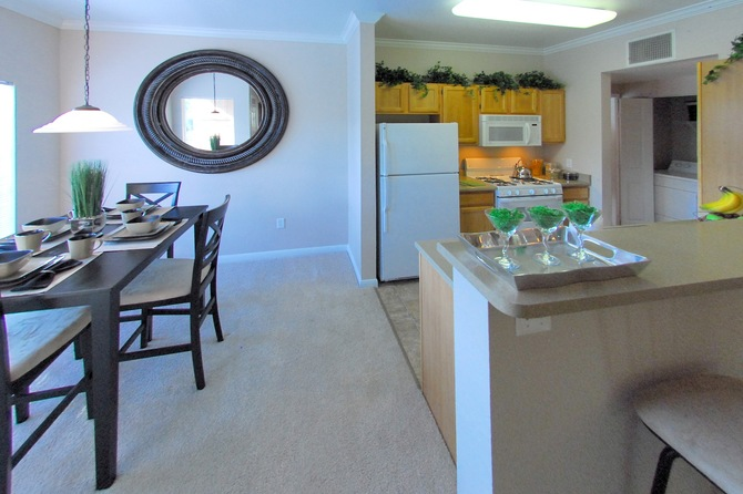Dining Room and Kitchen of Seasons Horsetooth Crossing Apartments