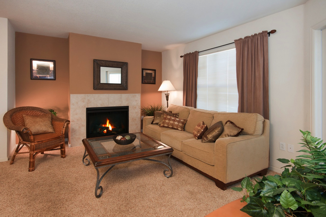 Living Room Of  Bellaire Ranch Apartments