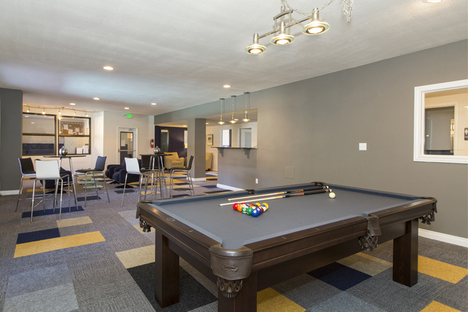 Billiard area of  The Atrii Apartments