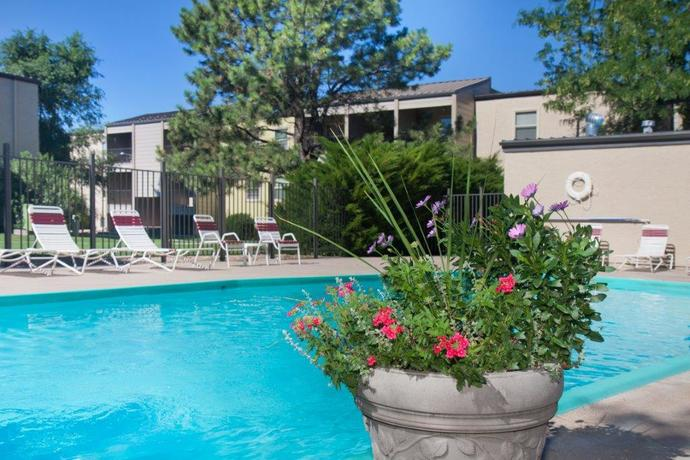 Pool area of Sterling-Heights-Apartments
